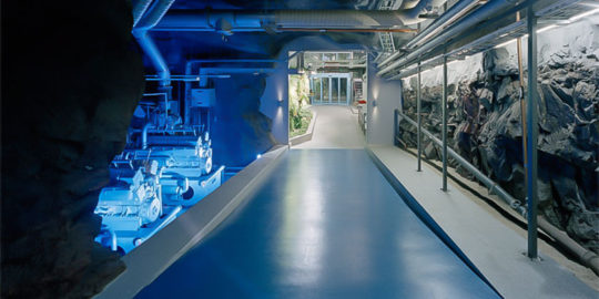Golvmatta i Banhof serverhall
