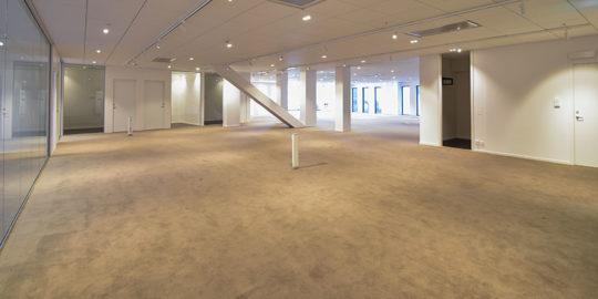 Textilgolv golvplattor kontorshotell Unitet Spaces Stockholm