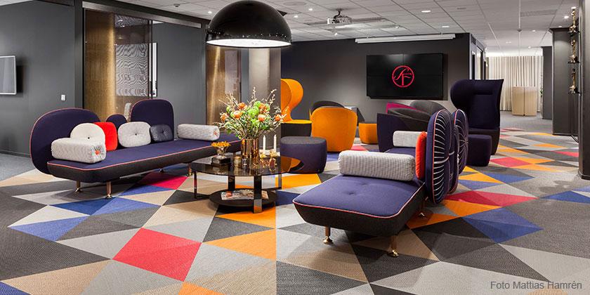 Golv i SF huvudkontor på Sveavägen i Stockholm
