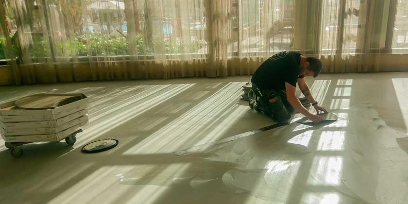 Golvläggare från 3L Golv lägger golvmatta