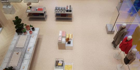 Butiksgolv i Stockholm på butiken Gina Tricot